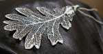Sterling Silver real leaf necklace