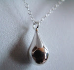 LAST ONE sterling silver RAINDROP necklace