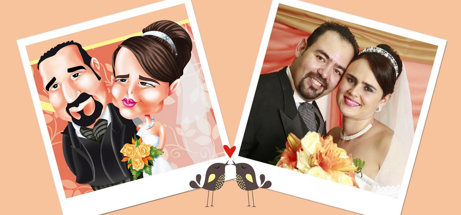 ... etiquetas caricaturas hechas para boda de danilka y franklin dibujo y