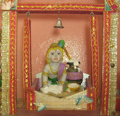 it was 7 years back when i got the last chance to decorate the mandir