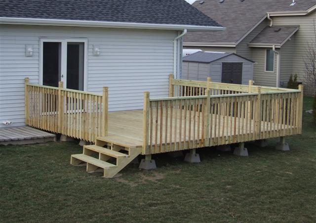 12 x 16 wood deck pictures to pin on pinterest pinsdaddy 16x16 deck material list