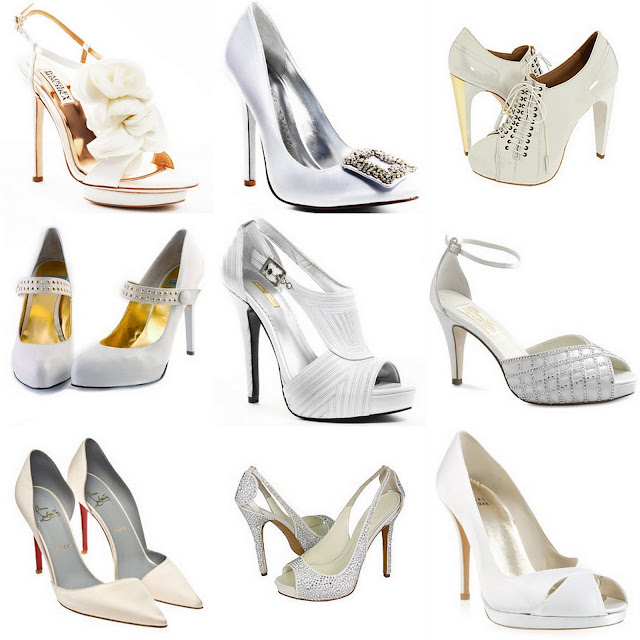 Gold Satin Shoe For Wedding
