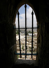 Looking out from the Tomb of Shmuel Hanavie - Nabi Samuel
