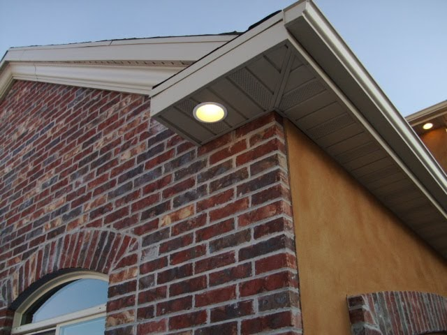 Brighton electric soffit recessed lighting - How to install exterior lighting ...