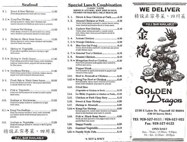 out west food review golden dragon chinese restaurant in. Black Bedroom Furniture Sets. Home Design Ideas