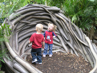 Children playing in Giant Eagles Nest