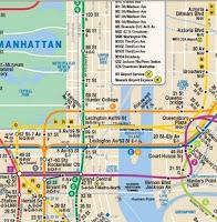 Mapa de parte del recorrido del tren N