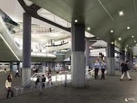 Diseño del nuevo vestíbulo del centro de transportes de la calle Fulton