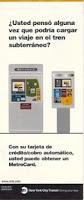 Máquinas expendedoras de MetroCard. Folleto en español.