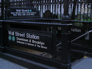 Estación de Wall Street, líneas 4 y 5, por Aspersiones, vía Wikipedia Commons
