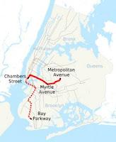 Plano esquemático de la ruta M, por NE2, vía Wikipedia