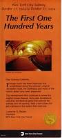 Portada del Folleto Conmemorativo del Aniversario del Metro, editado por MTA New York City Transit