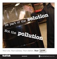 Sé parte de la solución, no de la polución