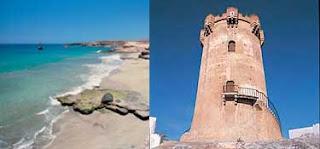 Playa de Adeje y Castillo de Paterna
