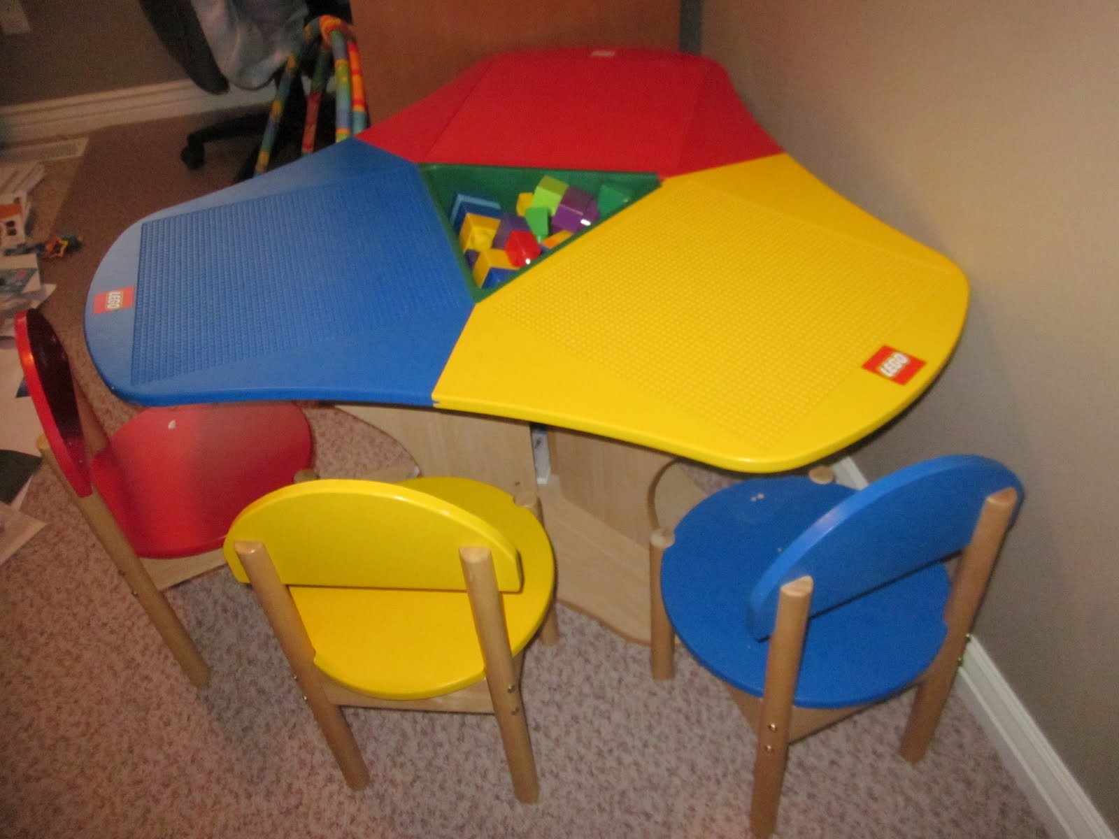 Selling Some Items: Kids lego table with 3 chairs - $150