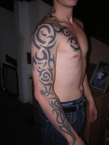 tribal sleeve tattoo ideas. tribal sleeve tattoo designs.