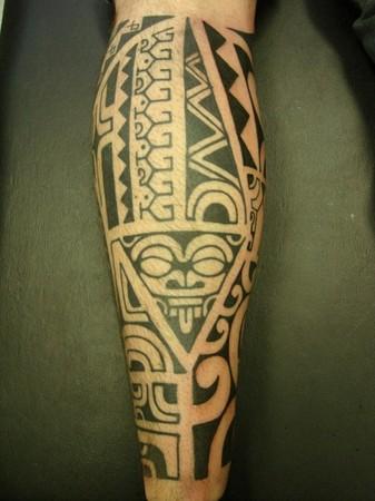 Polynesian Tattoo - leg tattoo