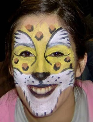 Tiger Body Painting in Sexy Girl