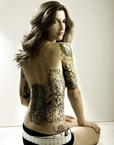 Beauty of fashion sexy tattoo for women for Hot female back tattoos