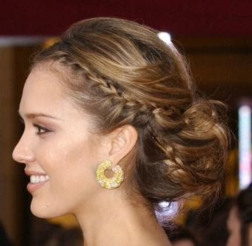 Updo Hairstyles , Wedding Hairstyles. A romantic low, side-swept bun is