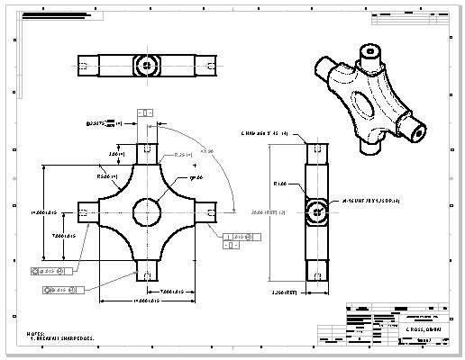 autocad 2015 how to make drawing from part file