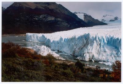 O glaciar estava separado da península