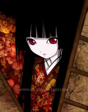 JINGOKU SHOUJO Jigoku_Shoujo___Enma_Ai_by_I3I