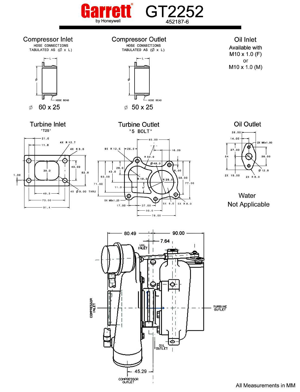 gt2860r turbocharger turbobygarrett