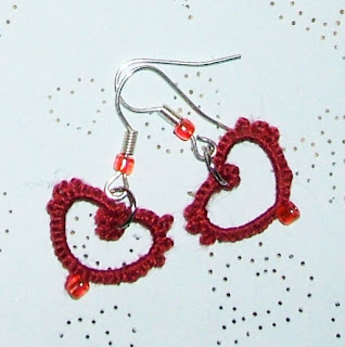 tatted earring hearts