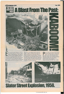 Centretown Buzz Feb 1999 last page: A blast from the past- Kaboom- Slater St Explosion, 1958