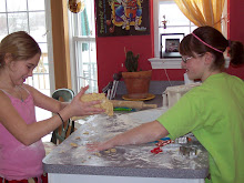 Jo & Sissy making sugar cookies