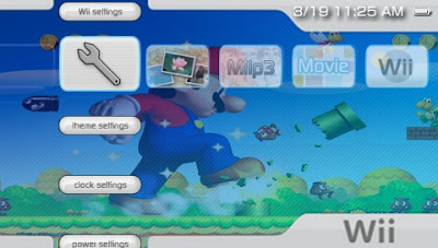 wii psp themes