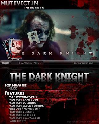 the dark knight 5.00 m33psp themes