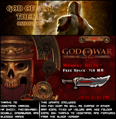 God of War psp Theme for 5.00 m33 created by osnap1584.