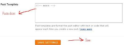 memasang readmore yang disediakan blogspot, sopintar.blogspot.com