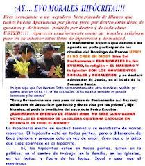 UPS.....¿PRESIDENTE EVO MORALES CRISTIANO CATOLICO? CREE EN JESUCRISTO ?