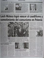 Lech Walesa logro vencer al caudillismo y sometimiento del comunismo en Polonia