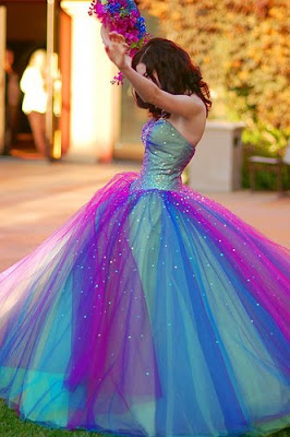 Rainbow wedding dresses