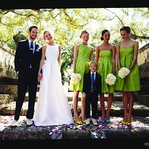 Bridesmaid green dresses
