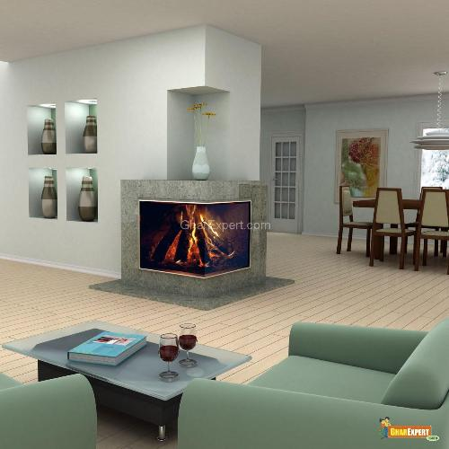 modern living rooms with fireplaces on Modern Design Living Room With Fireplace