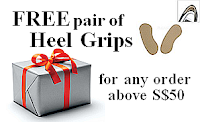 Get a pair of heel grips FREE