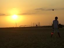 Atardecer en Playas de Mazagon, Huelva.