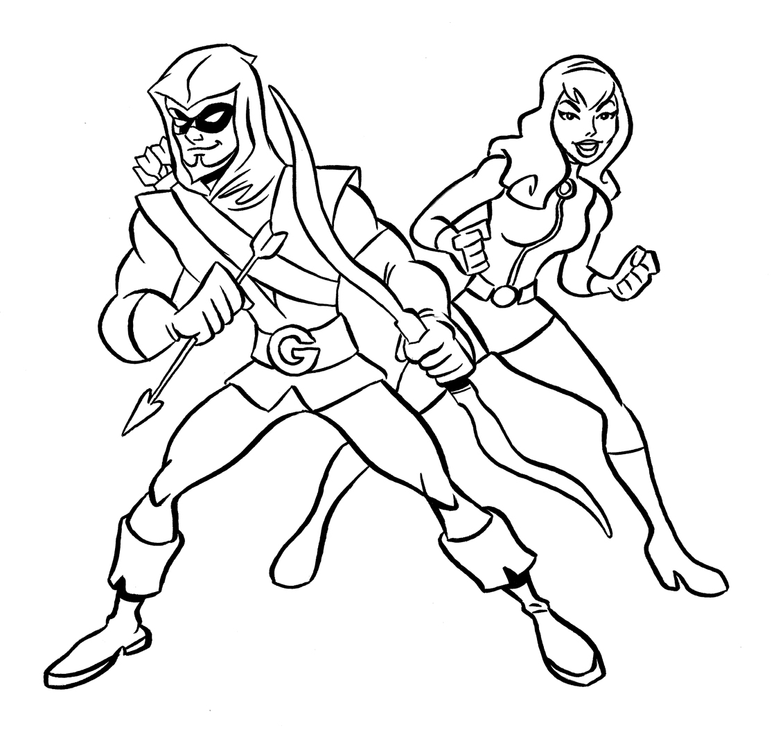 green arrow sketch scoot sketches - Green Arrow Coloring Pages