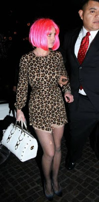 Britney Spears in leopard print dress