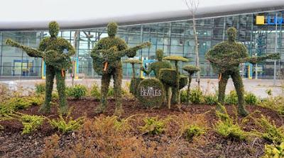 Beatles in topiary