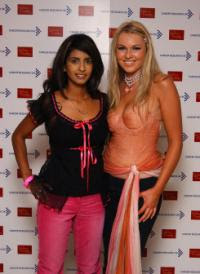 Konnie Huq with Zoe Salmon