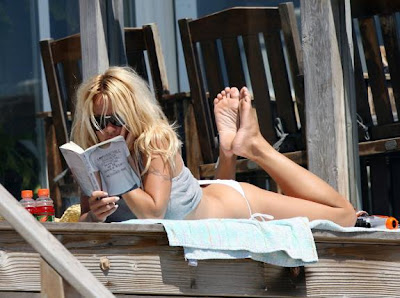 Pamela Anderson at Malibu beach house