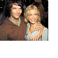 Melinda Messenger with husband Wayne Roberts