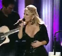 Jessica Simpson cleavage at Grand Ole Opry