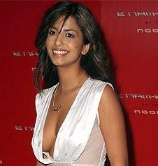 Konnie Huq low cut dress cleavage